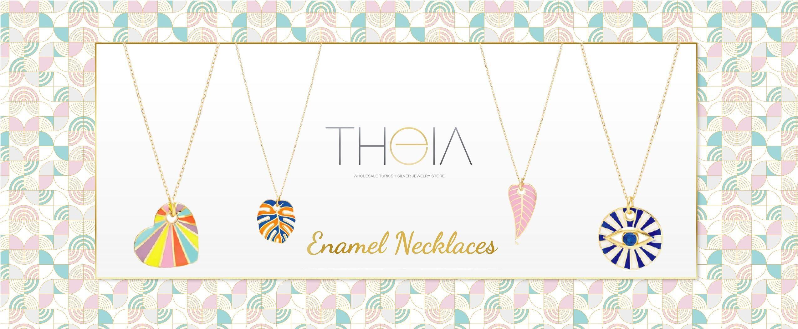 Enamel Necklace Pendant