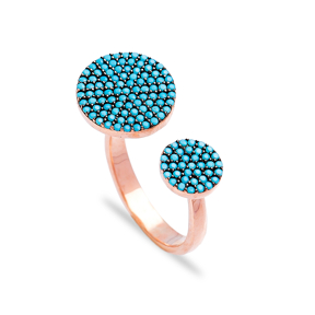 Fashionable Nano Turquoise Ring Wholesale Handcrafted Silver Jewelry