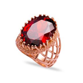 Wholesale Handmade 925  Sterling Silver Garnet Ring