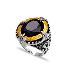 Onyx Authentic Men Ring Wholesale Handmade 925 Sterling Silver