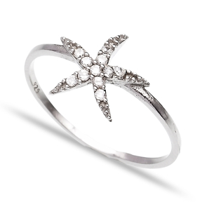 Turkish Wholesale Handcrafted Starfish Silver Ring