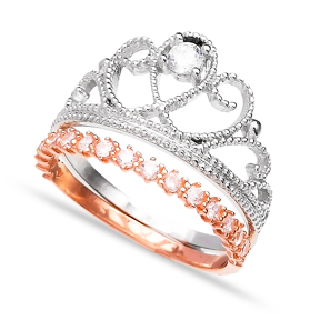 Crown Design Silver Ring Turkish Wholesale 925 Sterling Silver Jewelry