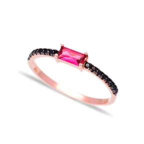 Wholesale Handcrafted Silver Micro Pave Zircon Bar Ring