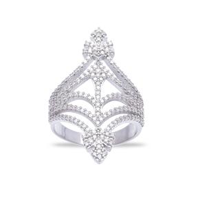 Wholesale Handmade 925K  Zircon Sterling Silver Ring