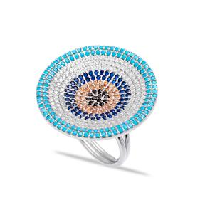 Evil Eye Modern Ring Wholesale Handmade 925 Sterling Silver