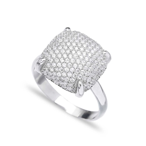 Cushion Shape Ring Wholesale Handmade 925 Sterling Silver