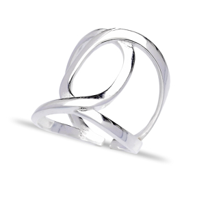 Dainty Desing Trendy Silver Adjustable Plain Ring Turkish Wholesale Silver Jewelry