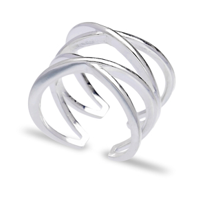 Plain Design Silver Adjustable Ring Turkish Wholesale Handmade Sterling Silver Jewelry