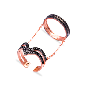 Turkish Wholesale Handcrafted Double Finger Ring