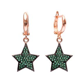 Dangle Clip On Star Earrings Turkish Wholesale Sterling Silver Earring