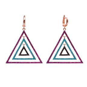 Triangle Dangle Earrings Turkish Wholesale Handmade Sterling Silver Earring