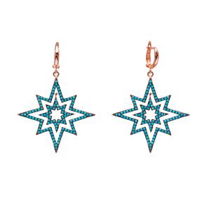 Dangle Star Earrings Turkish Wholesale Handmade Sterling Silver Earring