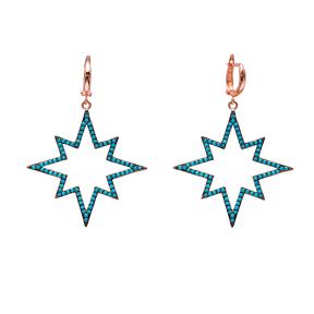 Star Dangle Earrings Turkish Wholesale Handmade Sterling Silver Earring