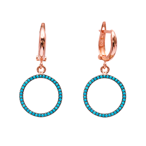 Turkish Wholesale Handcrafted Silver Round Dangle Earring