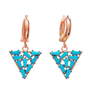 Dangle Clip On Earrings Turkish Wholesale Sterling Silver Earring