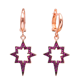 Dangle Compass Turkish Wholesale Sterling Silver Earrings