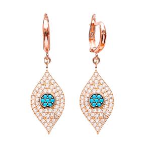 Evil Eye Earrings Turkish Wholesale 925 Sterling Silver Earring