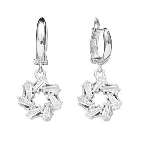 Baguette Sterling Silver Dangle Earring Wholesale Handcrafted Silver Earring
