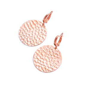 Modern Dainty Hammered 925 Sterling Silver Earring