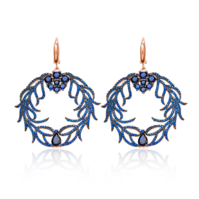 Ivy Round Earring Wholesale Turkish Sterling Silver Earring
