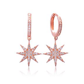 Simple Star Earrings Turkish Wholesale 925 Sterling Silver Jewelry