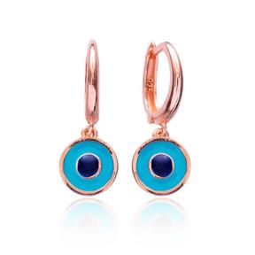 Evil Eye Enamel Clip On Earrings Wholesale 925 Sterling Silver Jewelry