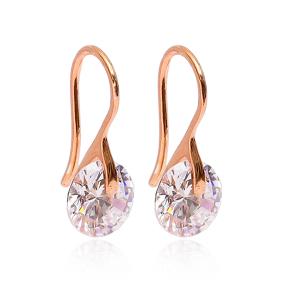 Zircon Hook Earrings Wholesale 925 Sterling Silver Jewelry
