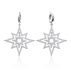 Wholesale Handmade 925 Sterling Silver Pole Star Earring