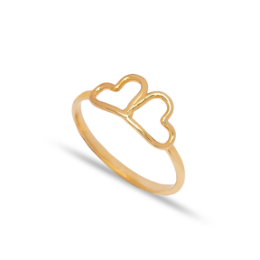 925 Silver Dual Heart Design Plain Ring Wholesale Handcrafted Silver Jewelry