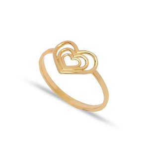 925 Silver Multiple Heart Design Plain Ring Wholesale Handcrafted Silver Jewelry