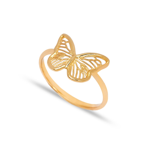925 Silver Butterfly Design Plain Ring Wholesale Handcrafted Silver Jewelry
