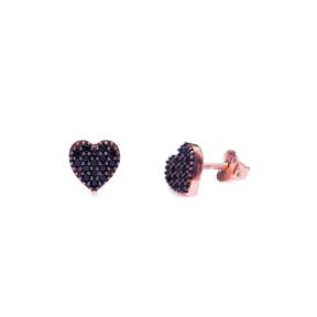 Heart Shape Stud Earring Wholesale Handcrafted Silver Earring