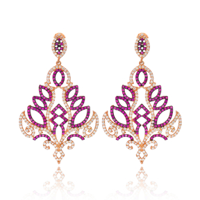 Sterling Silver Chandelier Earring Wholesale Handmade Turkish 925 Silver Sterling Jewelry