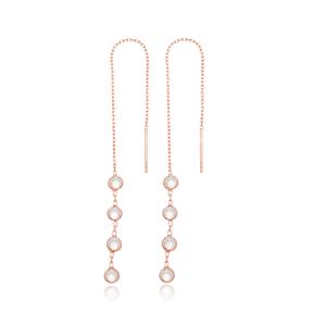 Elegant Threader Earrings Wholesale 925 Sterling Silver Jewelry