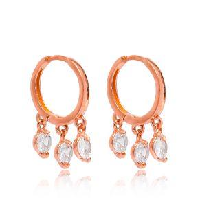 Silver Hoop Earrings Turkish Wholesale 925 Sterling Silver Jewelry