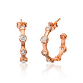 Silver Hoop Earrings Turkish Wholesale 925 Sterling Silver Jewelry Earring