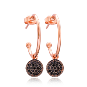 Round Dangle Earring Wholesale Handmade Turkish 925 Silver Sterling Jewelry