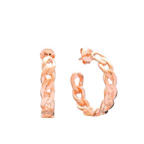 Chain Design Hoop Earring Wholesale Handmade Turkish 925 Silver Sterling Jewelry