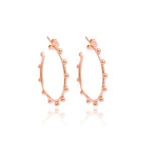 Boho Design Hoop Earring Wholesale Handmade Turkish 925 Silver Sterling Jewelry