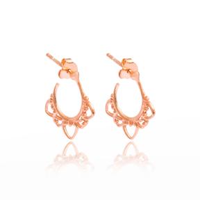 Basic Hoop Earrings Turkish Wholesale Handmade 925 Sterling Silver Jewelry