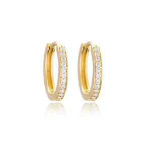 Minimal Hoop Earrings Wholesale Turkish 925 Sterling Silver Jewelry