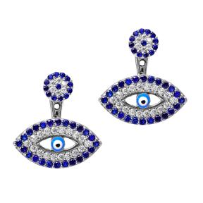 Ear cuff Turkish Wholesale Handcrafted Evil Eye Silver Earring