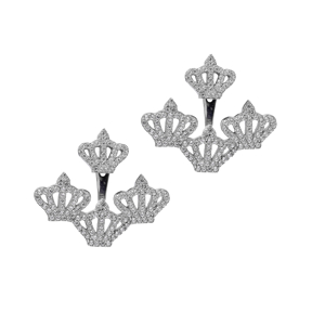 Ear cuff Turkish Wholesale Handcrafted Crown Silver Earring