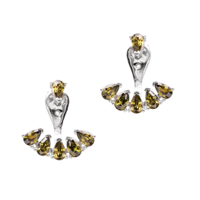 Smoky Quartz Ear Cuff Earring Turkish Wholesale Sterling Silver Jewelry