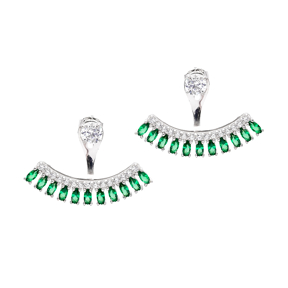 Minimalist Design Ear Jackets Turkish Wholesale Sterling Silver Earring