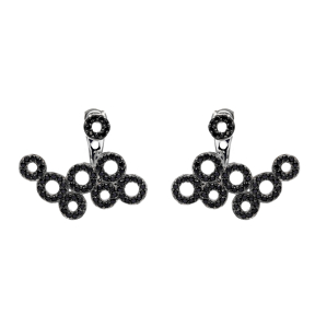 Hollow Rounds Ear Jacket Earring Turkish Wholesale Handcrafted Jewelry