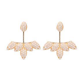 Silver Ear jackt Earring Turkish Wholesale Handcrafted Jewelry