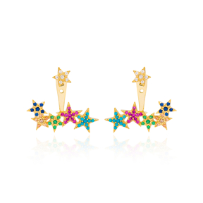 Rainbow Star Design Turkish Wholesale Handcrafted Silver Jewelry