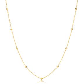 Ball Chain Pendant Turkish Handmade 925 Sterling Silver Jewelry