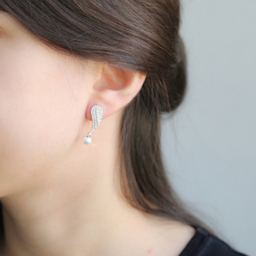 Pearl Wing Earrings Turkish Wholesale Sterling Silver Earring